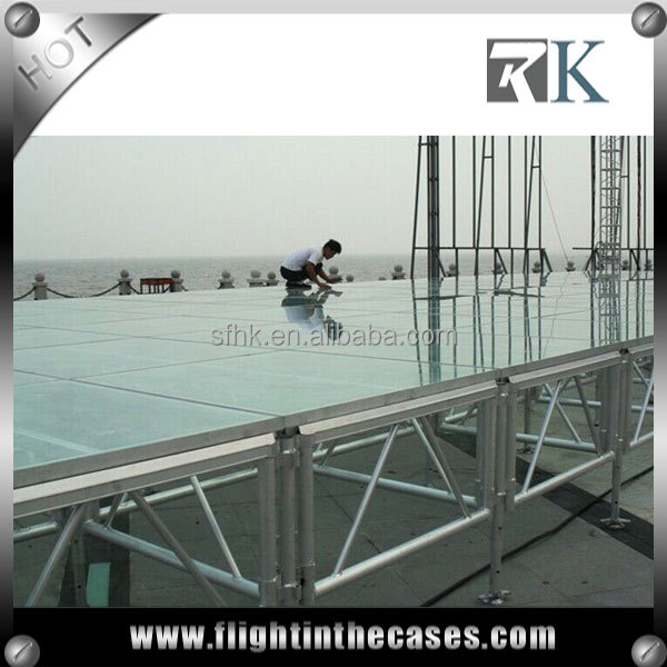 RK fashion show stage catwalk aluminum stage portable stage in truss display 2016 hot sale