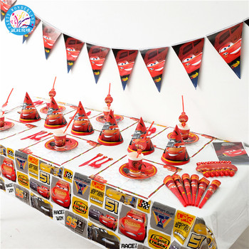 Cars Party Supplies Sets themed Party Supplies kids Party decoration