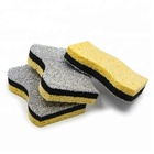 Deep Cleaning 3layer 3m scrubbing sponge with silver heavy scouring pad