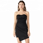 Sexy Short Mini Night Black Sexy Bodycon Prom Tube Girl Party Wear Western Dress