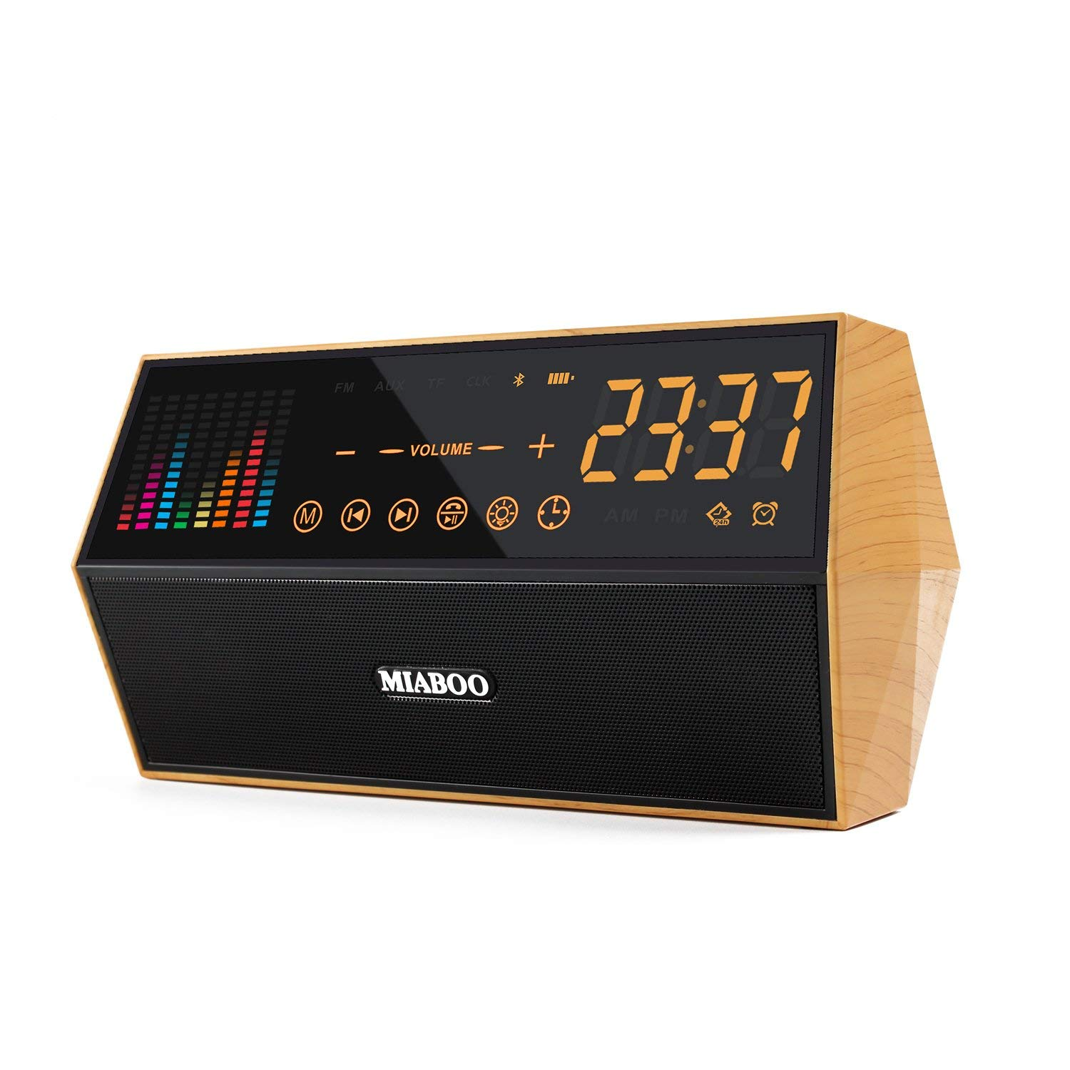 8056f87f4c8c Get Quotations · Miaboo FM Radio Smart Clock Bluetooth Capacitive Sensing  Touch Panel Clock LED Wireless TF Card AUX
