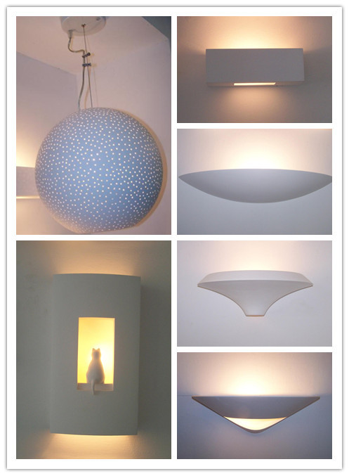 Indoor Decorative Plaster Gypsum Led Wall Lamp With Monder Style ...