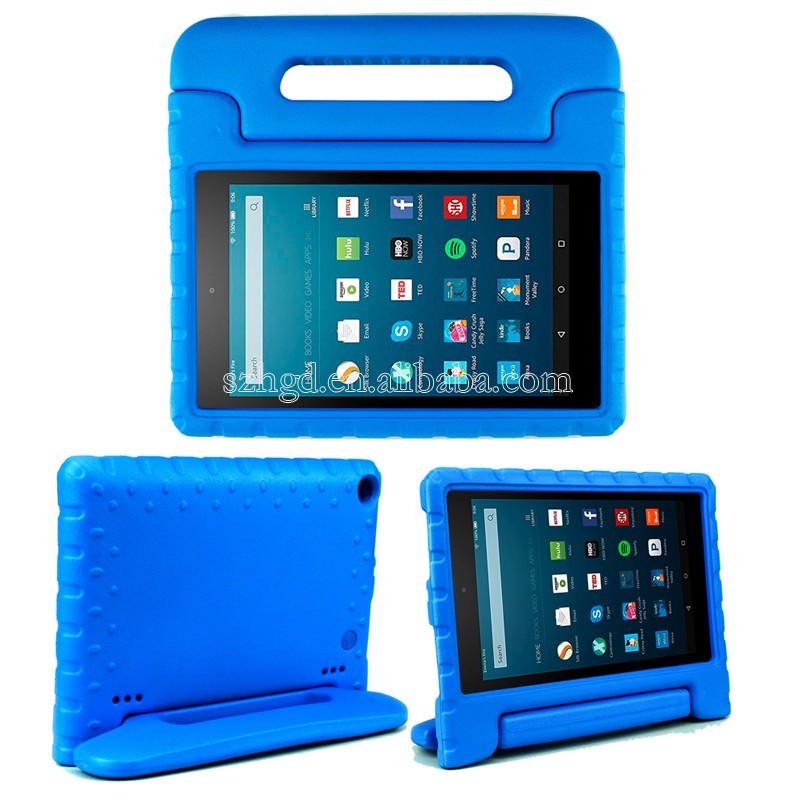 Convertible handle stand kid proof rugged tablet case for 8 inch tablet