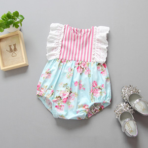 ins hot selling baby summer rompers 2017 infant toddlers stripe jumpsuit newborn soft cotton climb jumpsuit