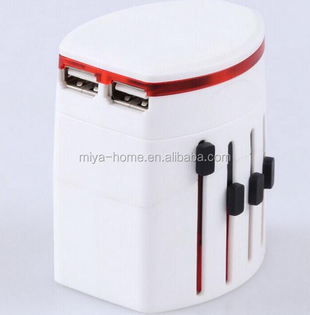 New design Universal Travel Adapter 2 USB Conversion Socket / Multifunctional Power Plug / Global Universal Plug Converter USB