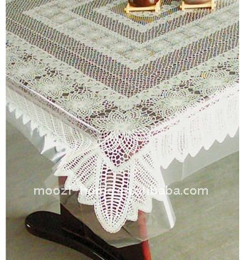 home textile white embroidery PE table cloths