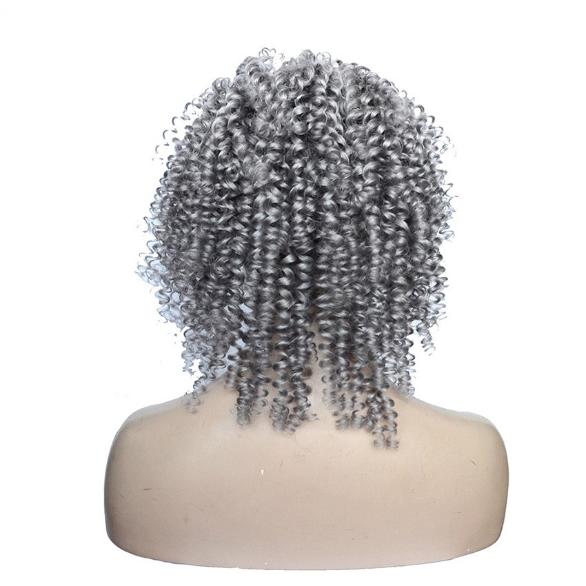 Silver Grey Human Hair Lace Wig Glueless Full Lace Human
