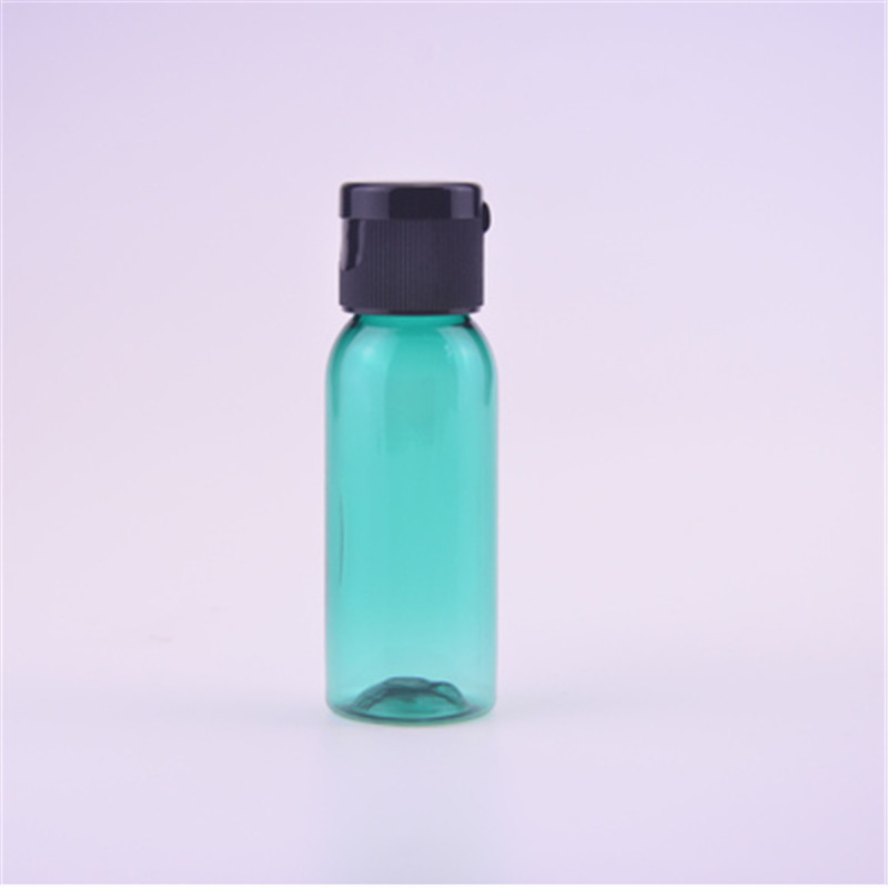 30ml Amber Clear Blue Green plastic PET lotion <strong>bottle</strong> with flip cap