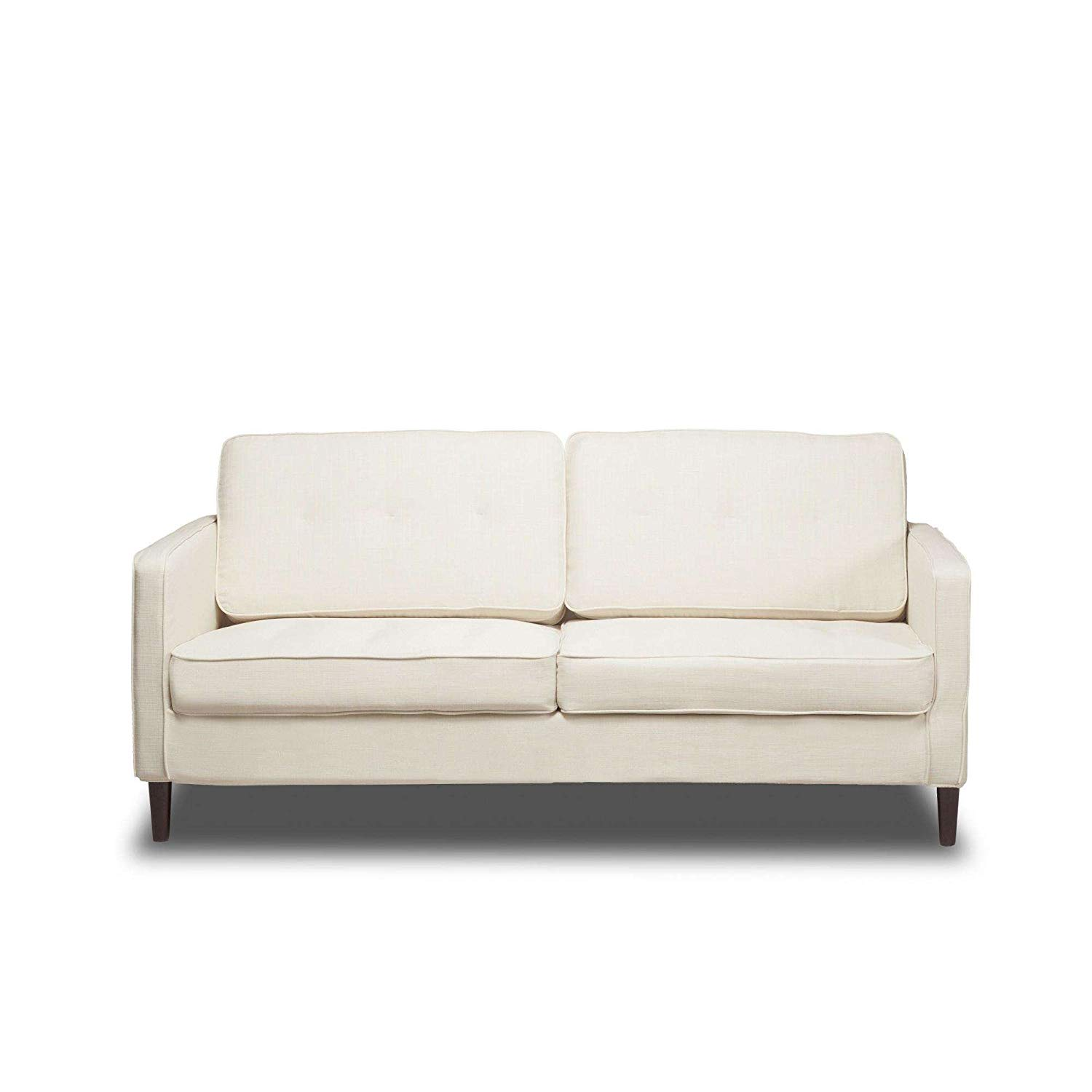 """Glacier 66"""" Upholstered Sofa, Pocket Coil Seat Cushions, Solid Wood Legs, Hardwood Solids, Metal Seat Frame, Removable Slip Cover, Bundle with Our Expert Guide with Tips for Home Arrangement"""