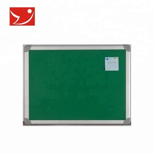 Aluminum wall mounted green cork board notice board