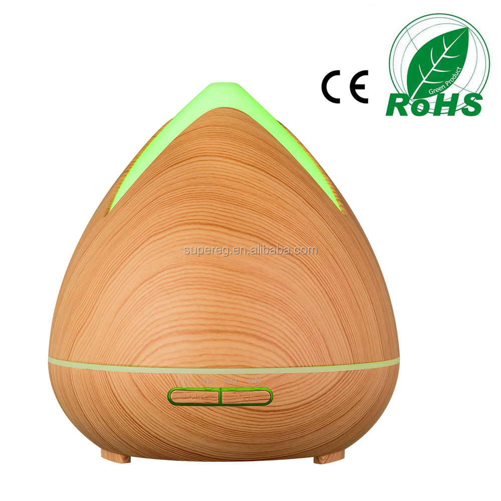 New Arrival Popular 400ml Essential Oil Diffuser with 7 color changing led light Aroma Diffuser 2018 products