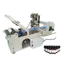 CE approved semi labeling machine for bottles with coding printer
