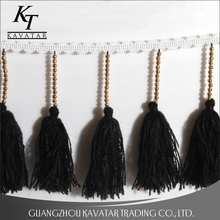 Fashion fancy long tassels trim decoration for dresses,clothing,curtain