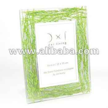 Photo Frame Resin Hand Cast : Green Straws Embed : 4 X 6 Inch   10 X ...
