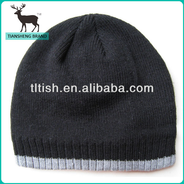 Popular high quality knitting beanies hats and caps men