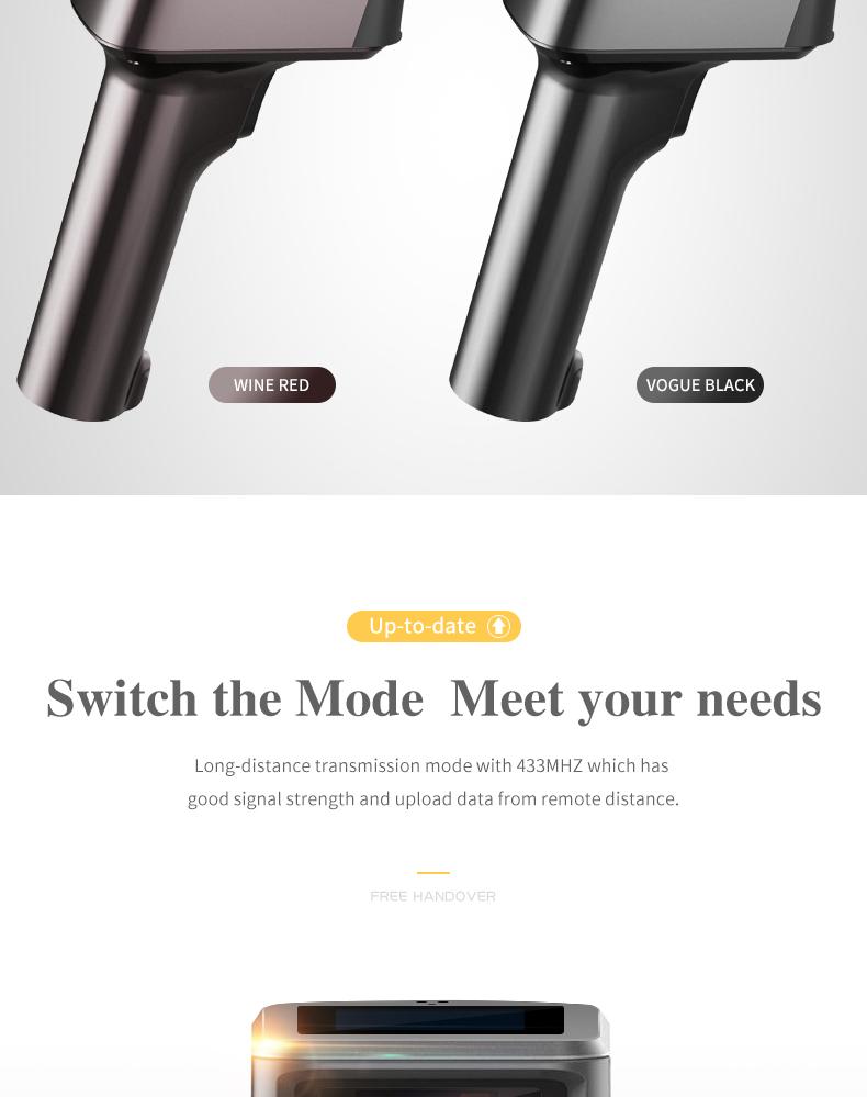 Nuovo Originale USB tenuto in mano portatile 1D/2D handheld Wired/Wireless Scanner di Codici A Barre lettore di codici a barre porta USB 2.4G symcode MJ-1932