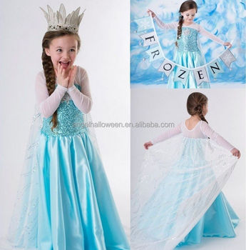 53384c6b0ed15 Princess Anna Costume Frozen Fancy Dress Frozen Elsa Dress Wholesale FC2246