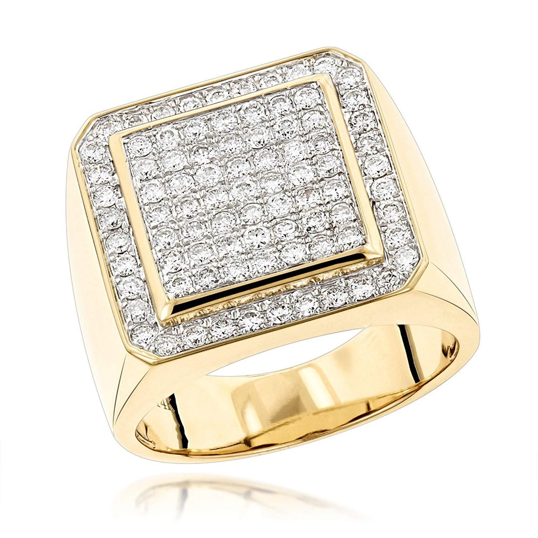 d50b75b3879f3 Buy Mens 14K Rose, White or Yellow Gold Designer Pinky Rings Mens ...