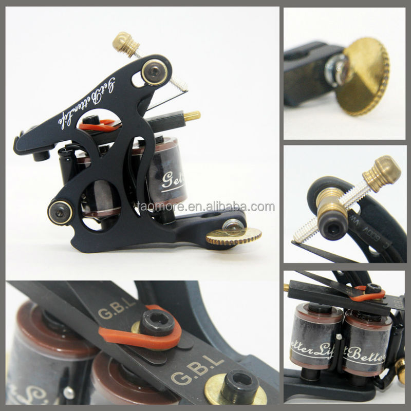 Getbetterlife 10 Coils iron casting tattoo machine