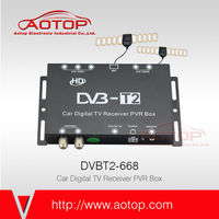 car Digital TV DVB-T2 Dual Antenna 120km/h, 1080P HD, USB PVR