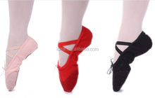 2015 manufacturer wholesale Dance Shoes Canvas Split Sole Ballet Shoes