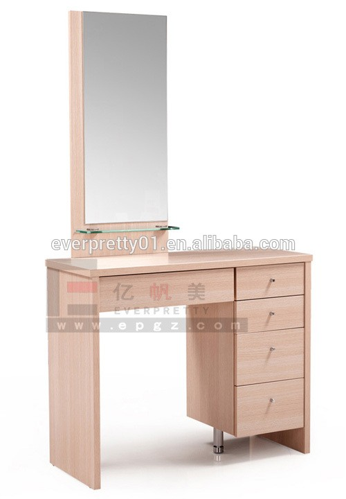 Simple Wooden Dressing Table Mirror With Drawer Designs