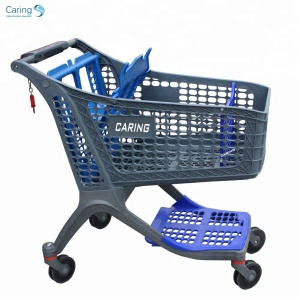 Supermarket All Plastic Eco Shopping Trolleys