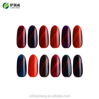 OEM/ODM Yidingcheng factory supplier fire cat eye gel polish UV nail gel free samples available