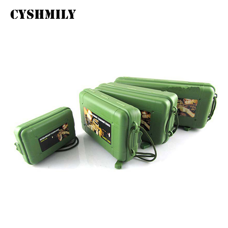 Green <strong>Plastic</strong> Storage Box For Flashlight Light Multifunctional Waterproof Torch Battery Charger <strong>Case</strong> holder CY-LI015