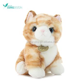 lovely stuffed plush cat toys lifelike animal toys lovely cat buy