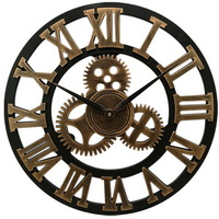 Retro vintage iron decorative antique metal  wall clock for living room bedroom office use