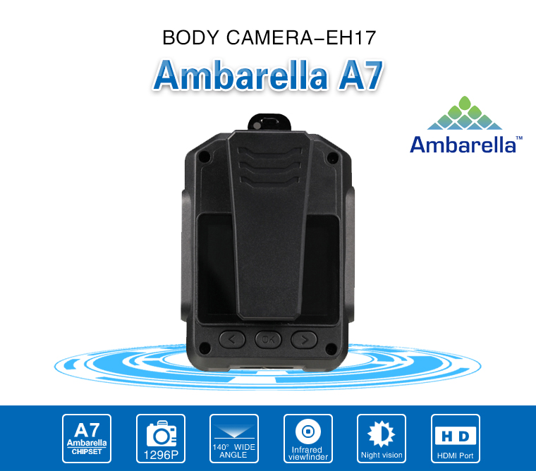 2016 Ambarella A7 Night Vision Super HD Evidence Capture Body Worn Video Camera