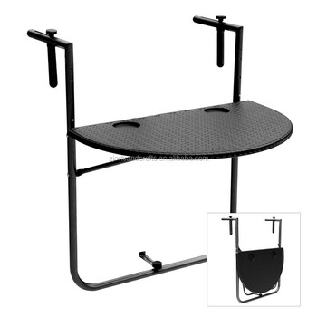 HDPE Adjustable Folding Balcony Hanging Table