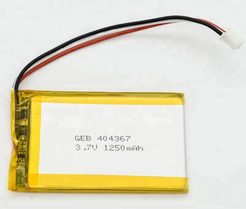 china supplier 402040 rechargeable battery 3.7V 300mAh for GPS