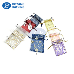 cheap organza drawstring gift bags free samples