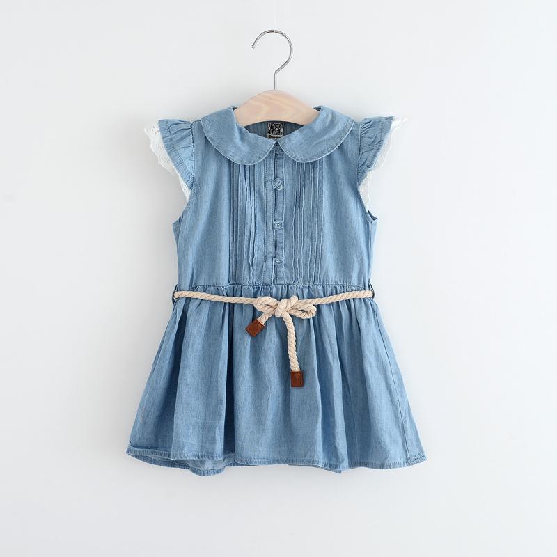Bsd1384 Baby Girl Denim Dress Children Jeans Frocks Designs Cap Sleeve Cow Girls Dresses Buy Bsd1384 Baby Girl Denim Dress Children Jeans Frocks