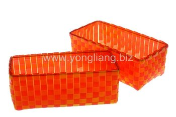 Captivating Cheap Strap Woven Pp Plastic Baskets Storage Box