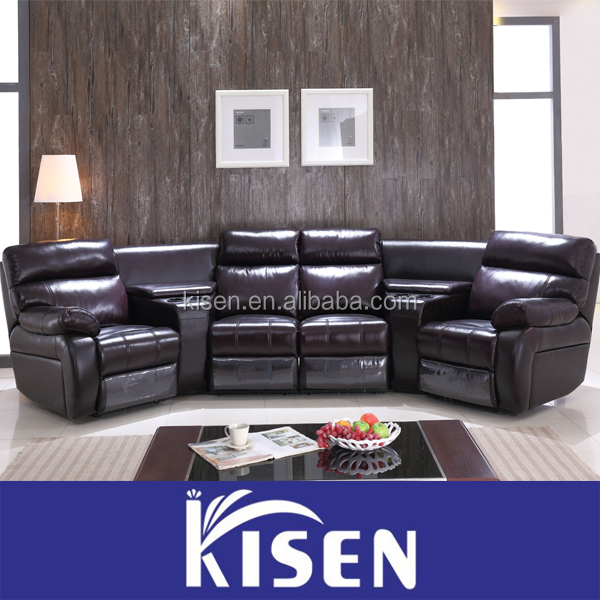heimkino liege elektrische funktion echtem leder sofa. Black Bedroom Furniture Sets. Home Design Ideas
