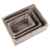 Wholesale brown color set of 3  wooden crates box for sale