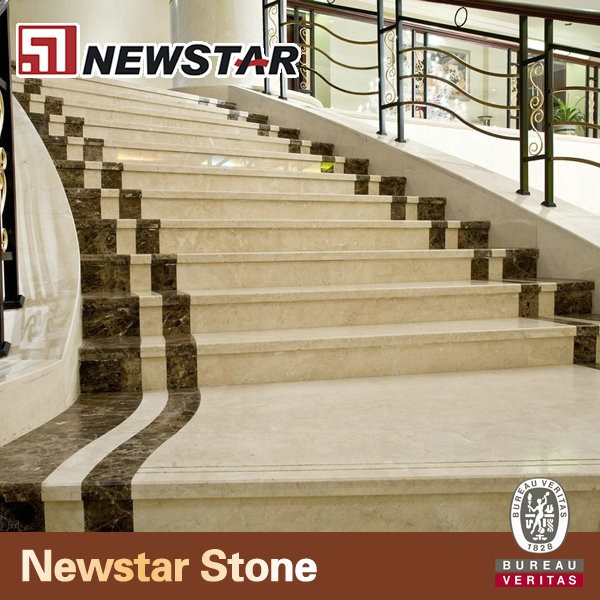Newstar Hotel Lobby Interior Floor Polished White Marble Stone Step Stairs  Risers   Buy Marble Steps,Marble Stairs,Marble Staircase Product On ...