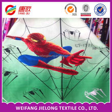 spider-man design bedsheet fabric in 100% polyester for sheet,bedding,home textile,bedspread