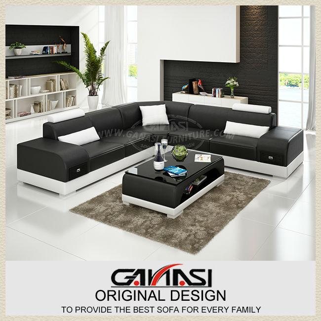 Sala de estar& sillones sofas, de alta calidad sofá genuino sofá del ...