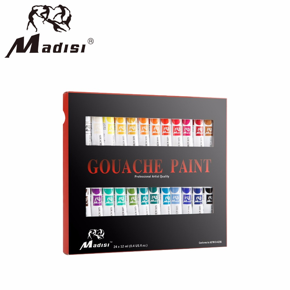 Hot selling high quality non-toxic wholesale gouache paint set for student
