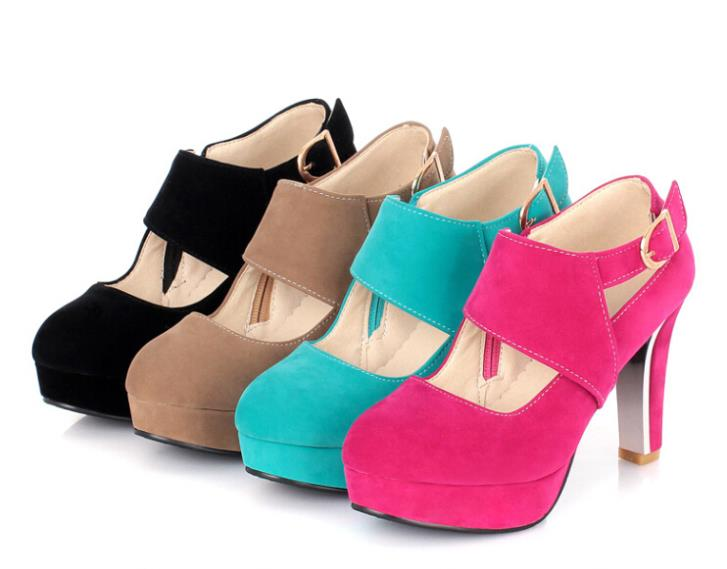 New 2015 Spring / Autumn Women Pumps Fashion High Heel Quality rubber shoes Waterproof platform Size35-43 R2705