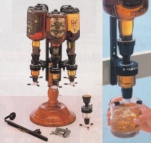 Upside Down Liquor Dispenser In Revolving Base - Buy Barware Product on  Alibaba com