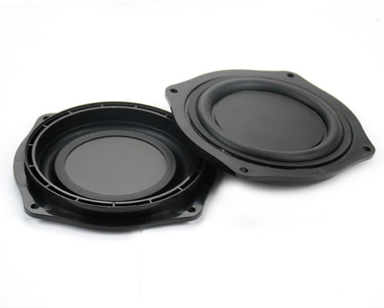 Aoshike 2pcs 4 Inch DIY Bass Speaker loudspeaker Vibrating Membrane Passive Bass Woofer Diaphragm Plate,Speaker Passive Radiator Replacement Kit