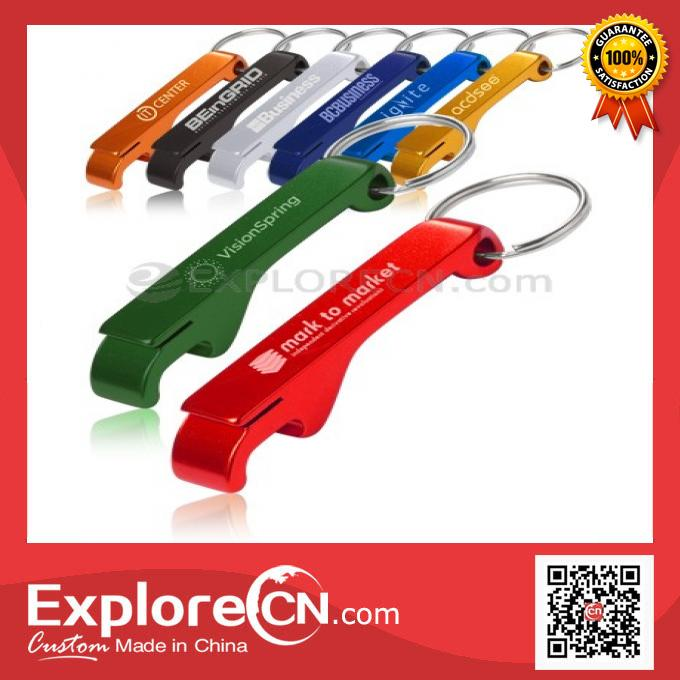 Multi-function aluminum bottle opener keychain