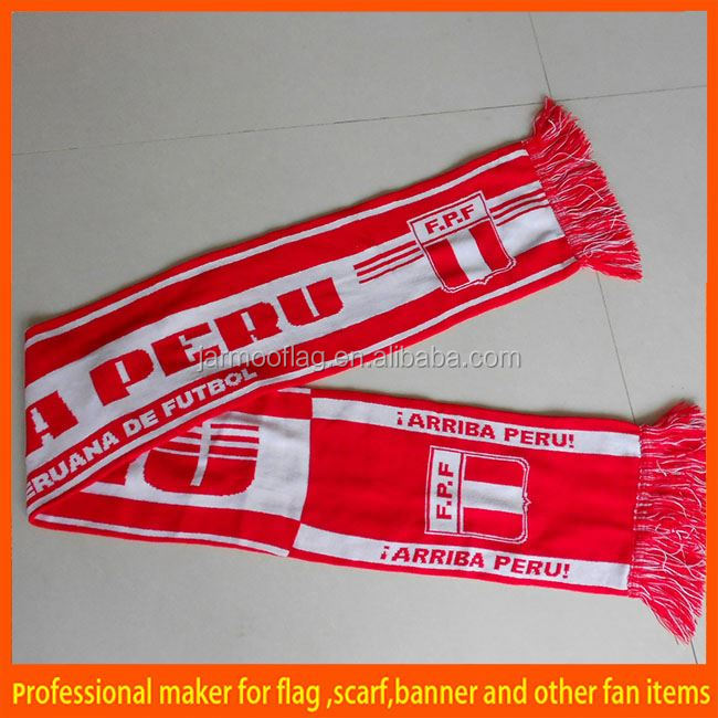 customized knitted acrylic singapore scarf