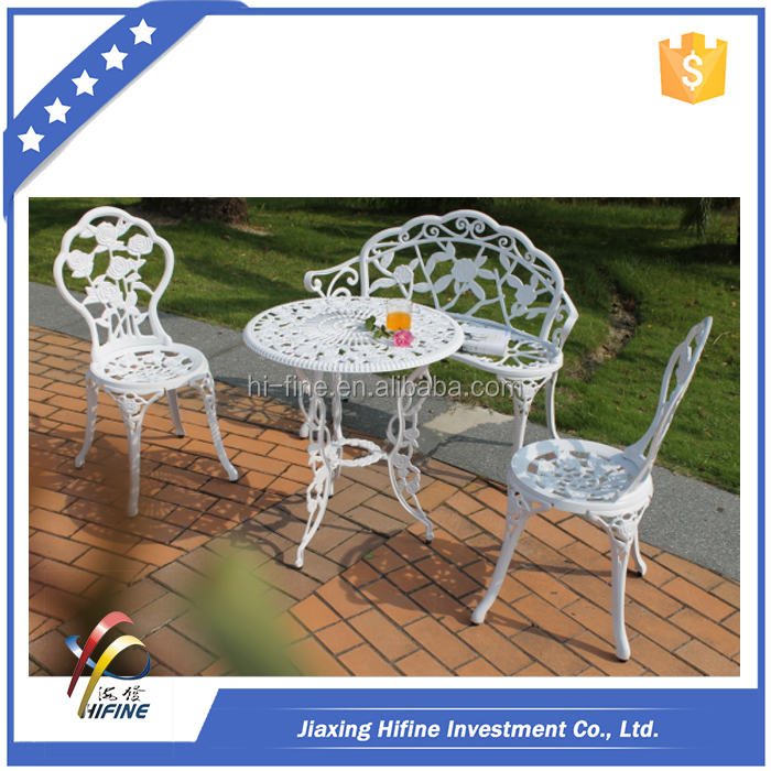 cast iron bistro set,aluminum bistro table and chair