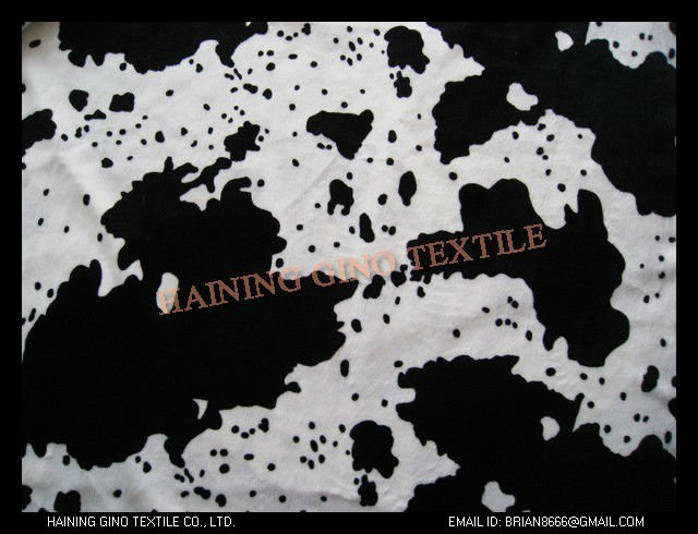Black and White Short Pile Faux Fur Fabric